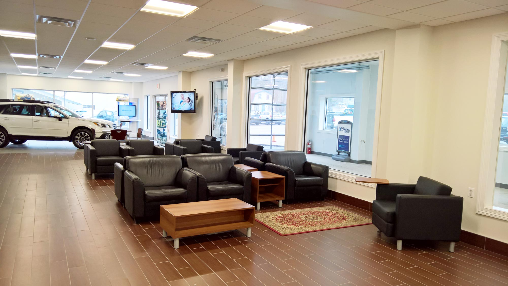 The renovated guest lounge