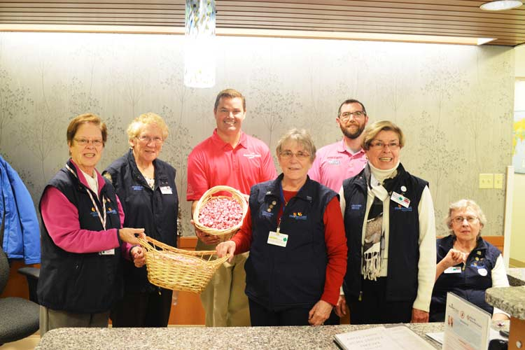 Stanley Subaru staff and Northern Light Maine Coast Hospital front desk volunteers
