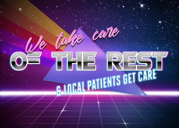 We take care of the rest and local patients get care
