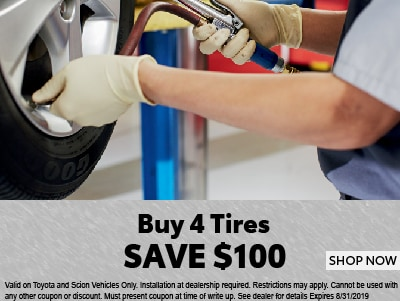 Buy 4 Tires Save $100