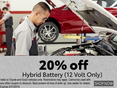 20% off Hybrid Battery (12 volt only)