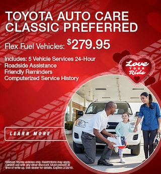 Toyota Auto Care Flex Vehicles