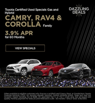 Toyota Certified Used Specials