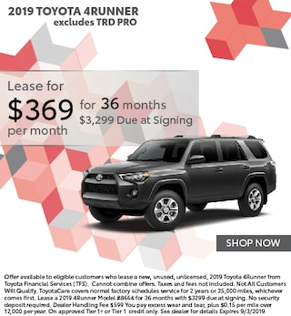 Lease $369 a month for 36 months with $3299 due at signing