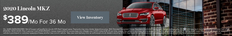 2020 Lincoln MKZ - Lease