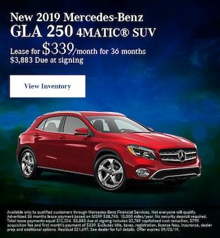 Aug - New 2019 Mercedes-Benz GLA 250 4MATIC® SUV