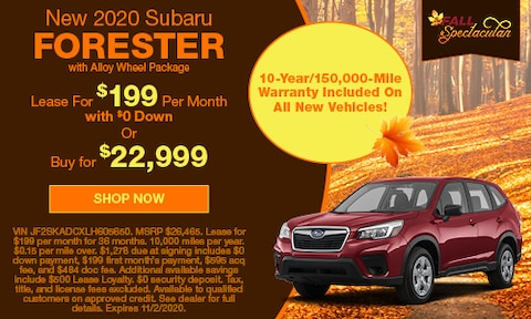 New 2020 Subaru Forester with Alloy Wheel Package