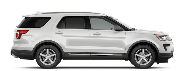 2019 Ford Explorer White Platinum