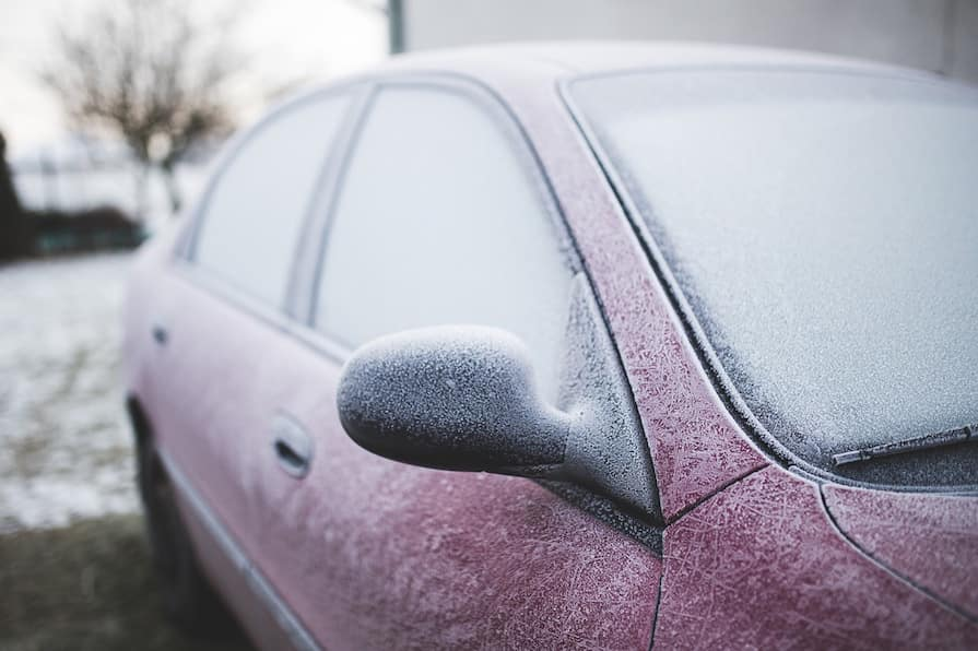 Unfreezing a car door near Delphos