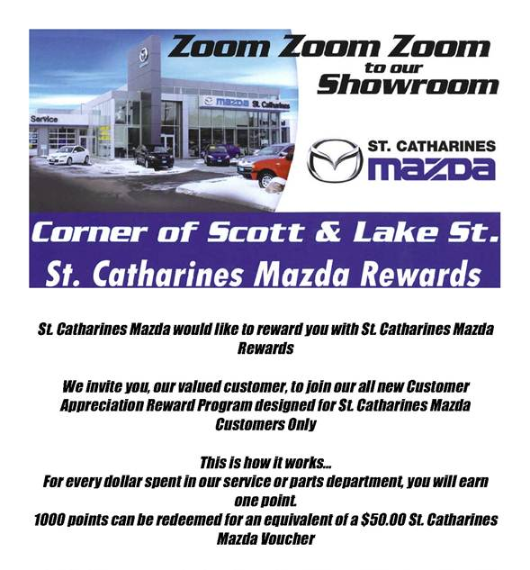 ST CATHARINES MAZDA New Mazda Dealership In St Catharines ON - Mazda rewards