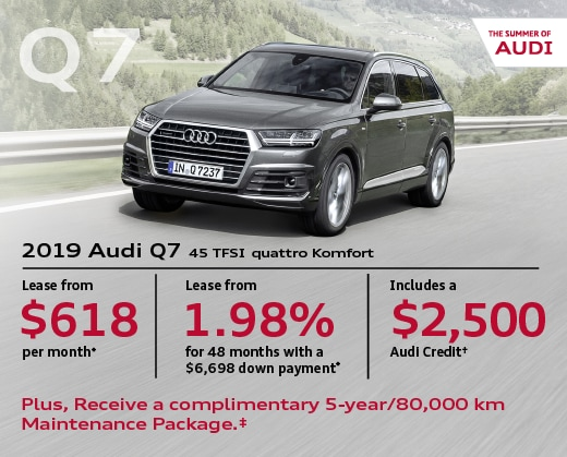 2019 Audi Q7 Special Offer