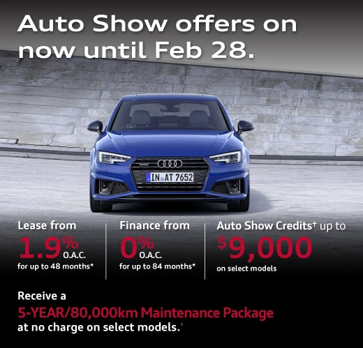 Audi Credits up to $8,500 on select models