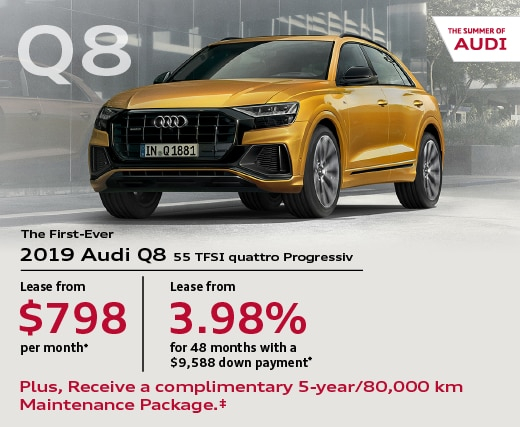 2019 Audi Q8 Special Offer