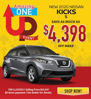 New 2020 Nissan Kicks Save As Much as $4,398 OFF MSRP