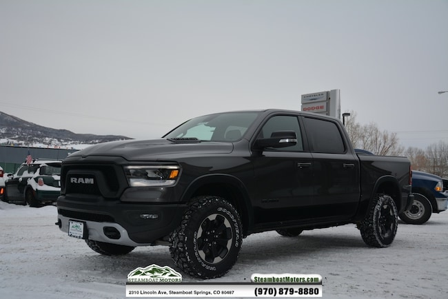 New 2019 Ram 1500 REBEL CREW CAB 4X4 5'7 BOX Crew Cab For Sale/Lease Steamboat Springs, CO
