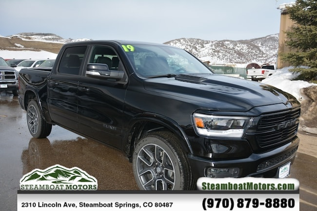 New 2019 Ram 1500 LARAMIE CREW CAB 4X4 5'7 BOX Crew Cab For Sale/Lease Steamboat Springs, CO