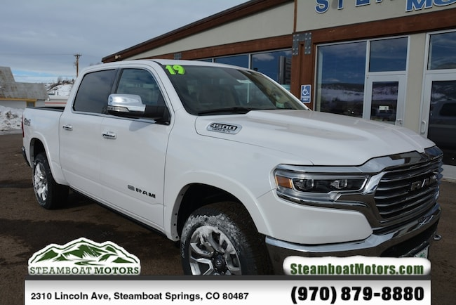 New 2019 Ram 1500 LARAMIE LONGHORN CREW CAB 4X4 5'7 BOX Crew Cab For Sale/Lease Steamboat Springs, CO