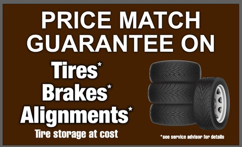 Tire Price Match on Tires, Brakes, Alignments