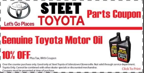 Toyota Oil Change | Steet Toyota of Johnstown