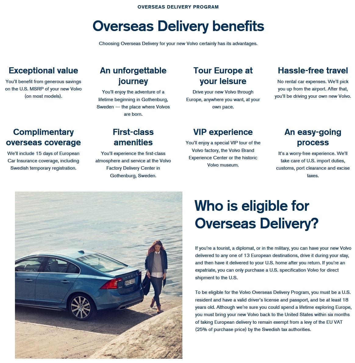 Volvo Overseas Delivery: Volvo Overseas Delivery Program