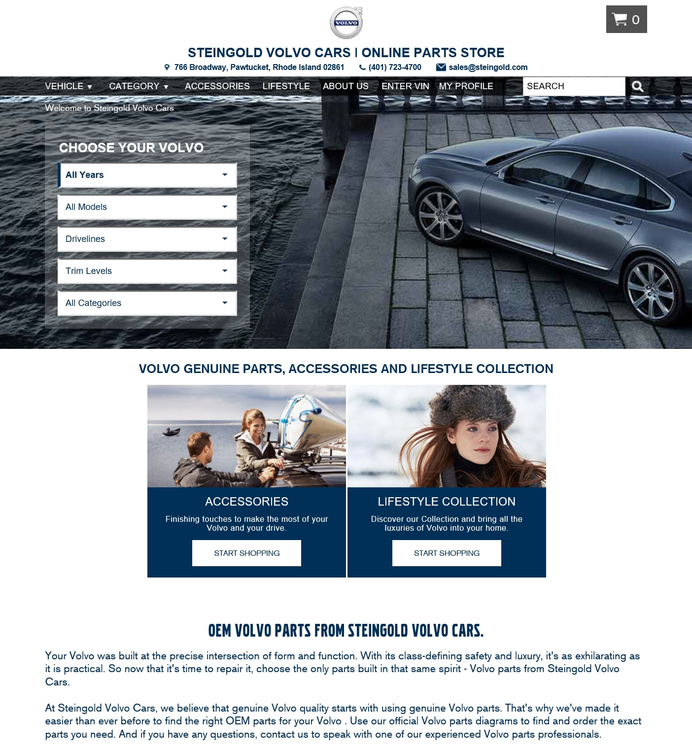 Purchase 100% Genuine Volvo Parts & Accessories Online | Steingold Volvo