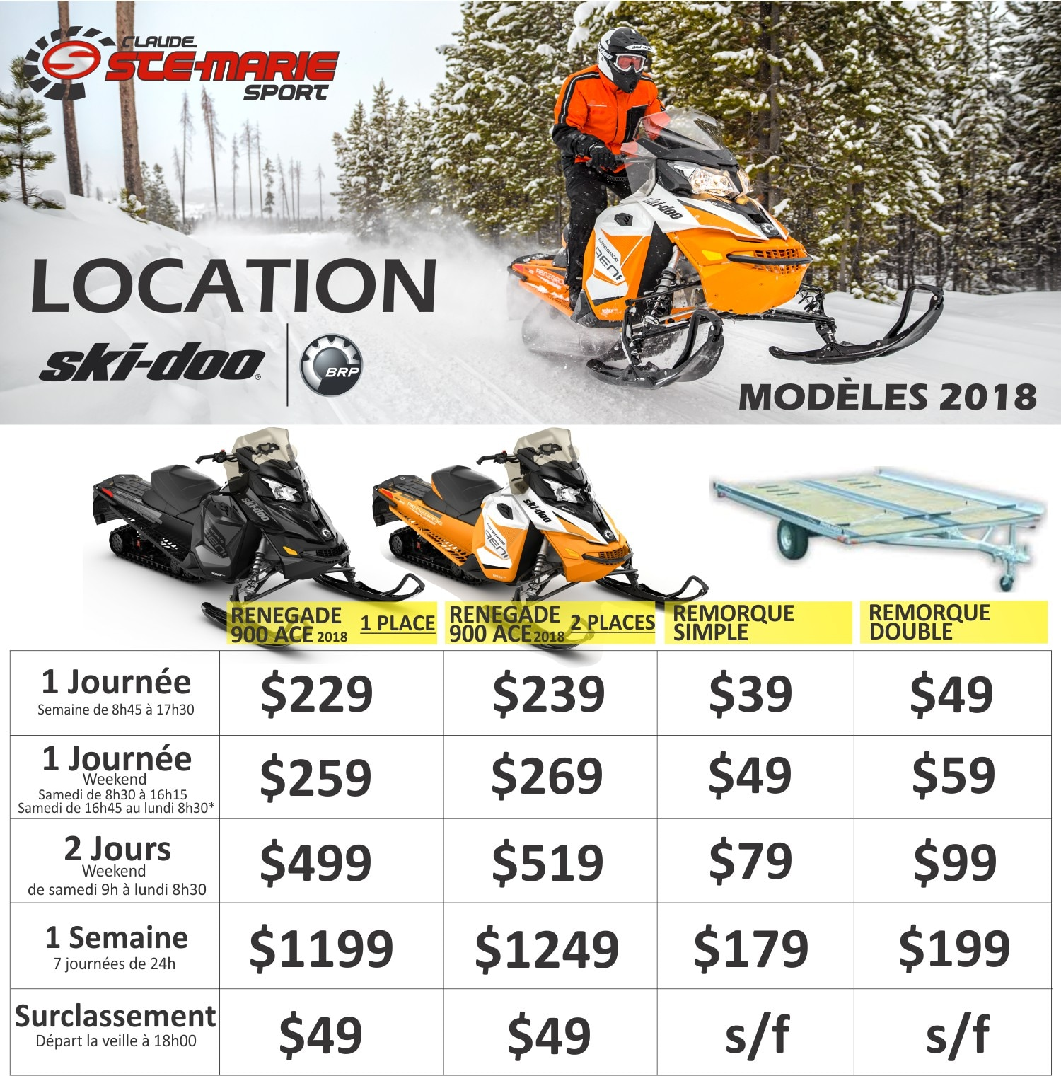 location ski doo et spyder louez un can am spyder ou un ski doo. Black Bedroom Furniture Sets. Home Design Ideas