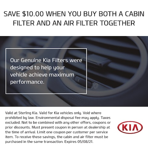 Save $10 when you buy both a cabin filter and an air filter together