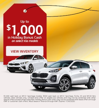 Up to $1,000 in Holiday Bonus Cash