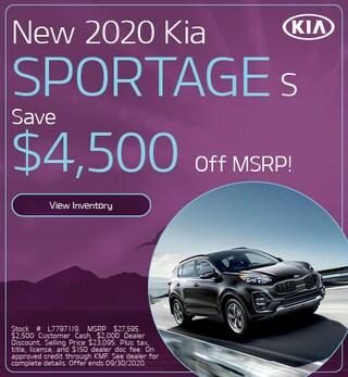 New 2020 Kia Sportage S