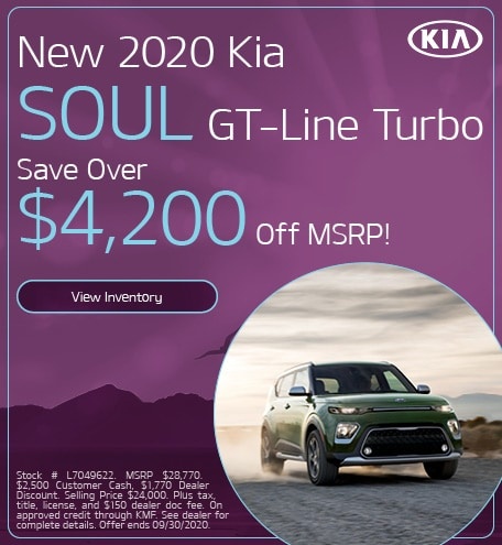 New 2020 Kia Soul GT-Line Turbo