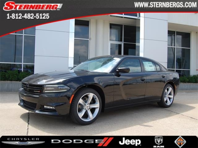 Featured new 2018 Dodge Charger SXT PLUS RWD - LEATHER Sedan for sale in Jasper, IN.