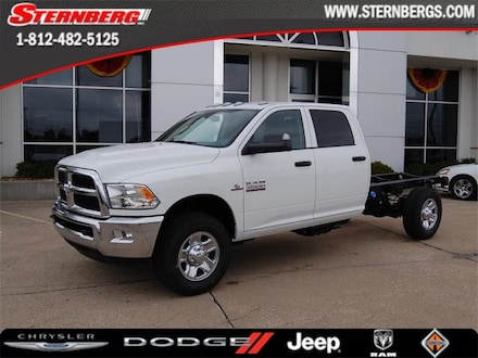 Featured new 2018 Ram 3500 Chassis Cab 3500 SRW 10K GVWR TRADESMAN CREW CAB CHASSIS 4X4 1 Crew Cab 10K for sale in Jasper, IN.