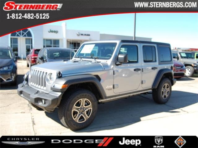 Featured new 2018 Jeep Wrangler UNLIMITED SPORT S 4X4 Sport Utility for sale in Jasper, IN.