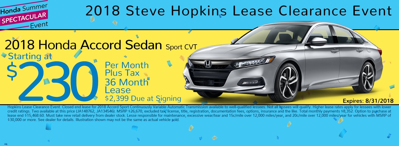 Steve hopkins honda new 2018 2019 honda used car dealer for Concord honda service coupons