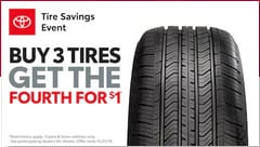Buy 3 Tires Get the Fourth for $1