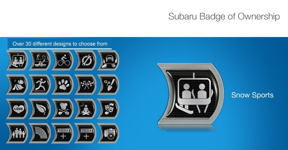 Alternate Designs for Subaru Badge of Ownership