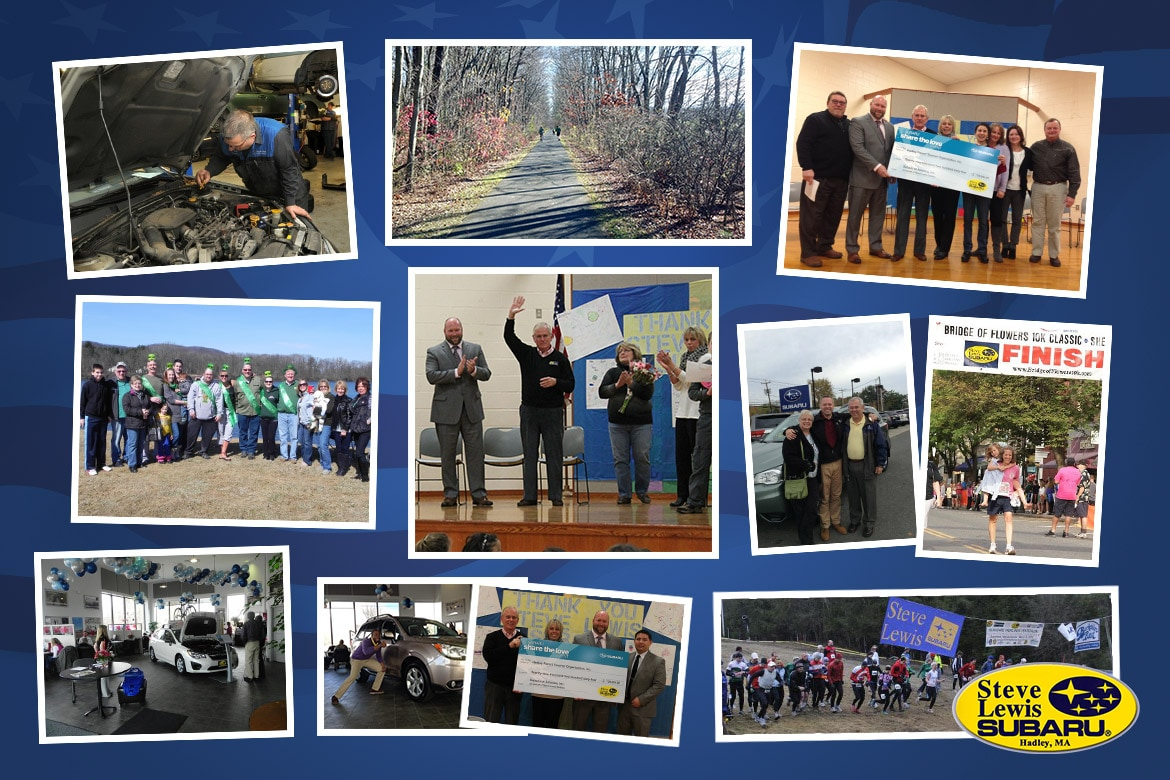 Collage of Photos Featuring Steve Lewis Subaru Staff