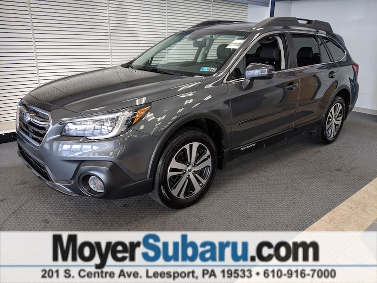 Certified Pre-Owned 2018 Subaru Outback 2.5i Limited with EyeSight, Navigation, High Beam Assist, Reverse Auto Braking, LED Headlights, Steering Responsive Headlights, and Starlink SUV near Reading, PA