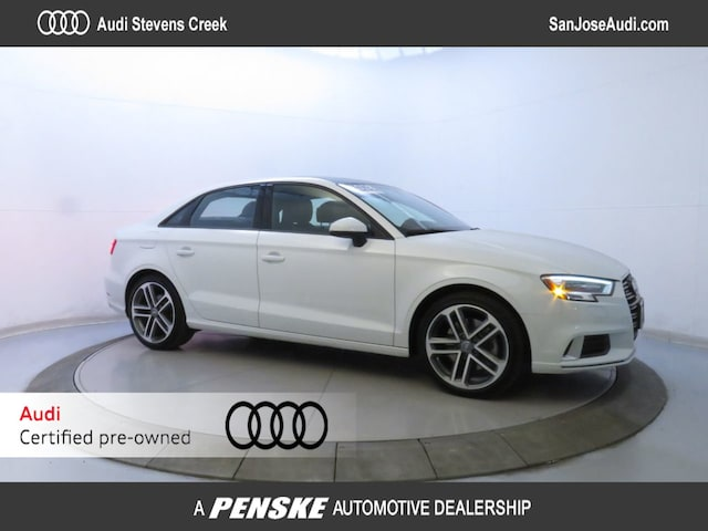 Certified Pre-Owned 2018 Audi A3 .18SP 2.0 TFSI PREMIUM QUATTRO AWD Sedan for Sale in San Jose, CA