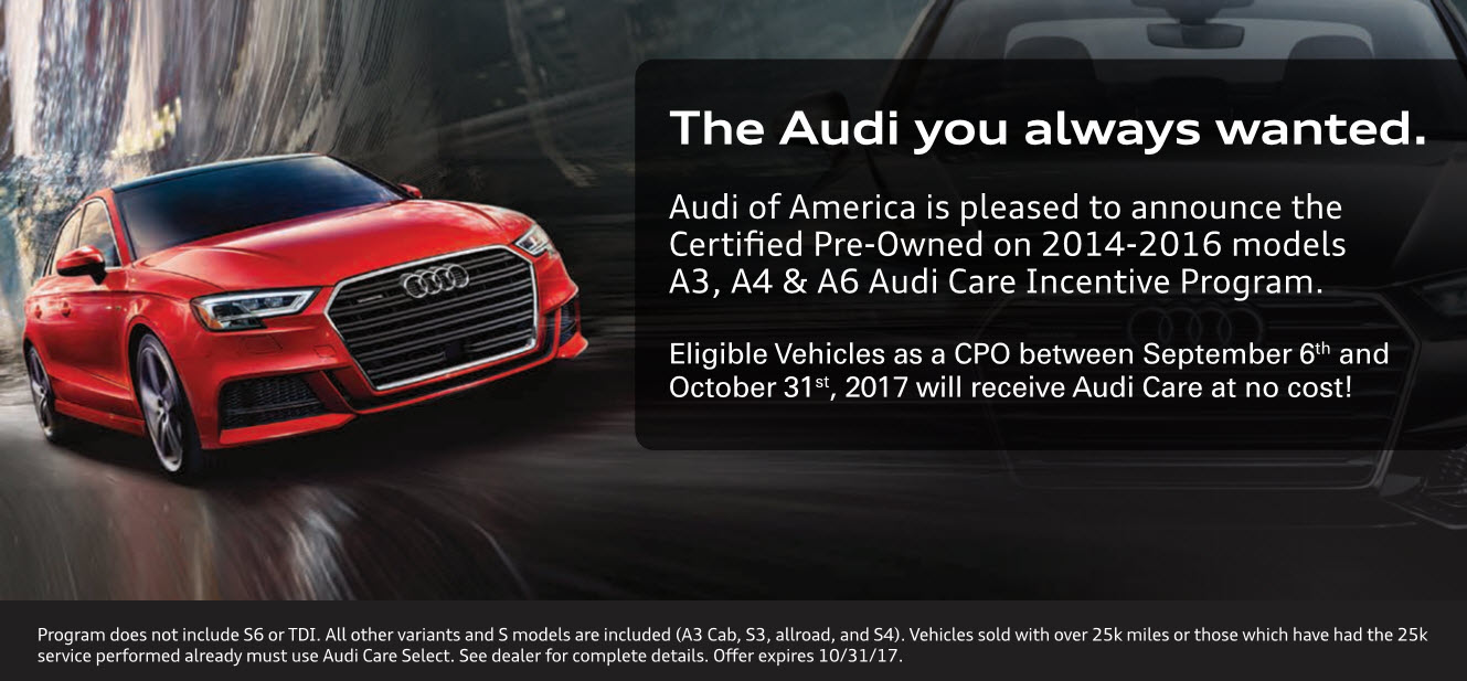 Audi Care Program | Audi Stevens Creek Care Program In San Jose, CA