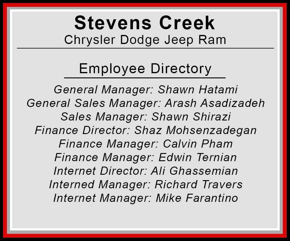 Stevens Creek Chrysler Jeep Dodge Ram