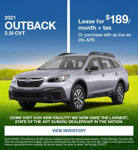 2021 Outback 2.5i CVT