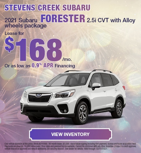 2021 Subaru Forester 2.5i CVT with Alloy wheels package