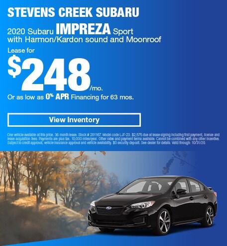 2020 Subaru Impreza Sport with Harmon/Kardon sound and Moonroof