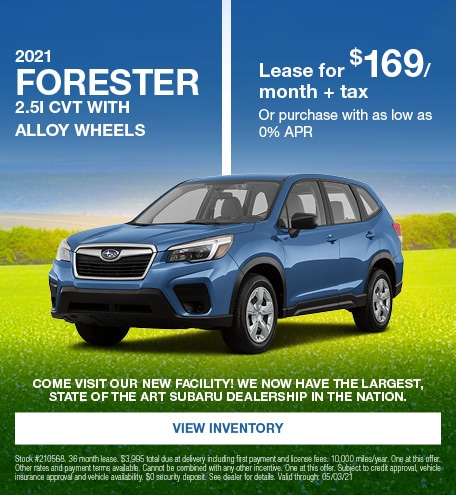 2021 Forester 2.5i CVT with Alloy wheels