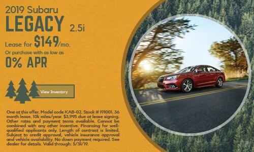 2019 Subaru Legacy - May