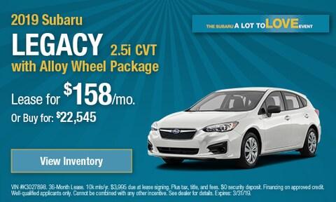 2019 Subaru Legacy - March