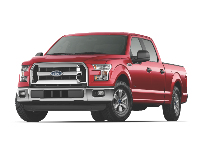 Red 2015 Ford F-150 XLT