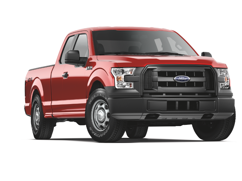 Red 2015 Ford F-150 XL