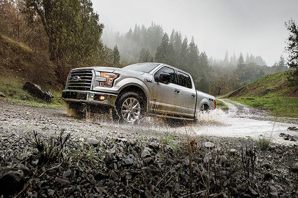 2017 Ford F-150 driving in water